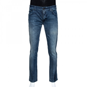 Dolce & Gabbana 14 Indigo Medium Wash Stretch Denim Jeans L