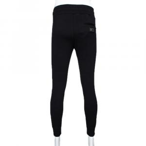 Dolce & Gabbana Black Stretch Cotton Rubberized Plate Track Pants IT 52
