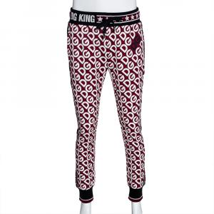 Dolce & Gabbana Multicolor DG Mania Print Cotton Sweatpants IT 48