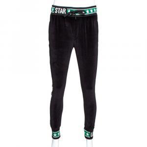 Dolce & Gabbana Black DG Mania Print Cotton Stretch Knit Details Track Pants IT 46