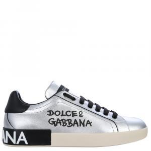 Dolce & Gabbana Silver Low Sneakers Size EU 43.5