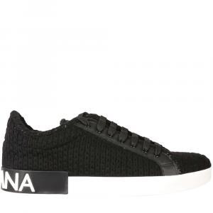 Dolce & Gabbana Black Portofino Sneakers Size EU 42.5