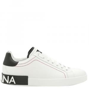 Dolce & Gabbana White/Black Portofino Sneakers Size EU 39