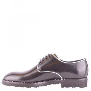 Dolce and Gabbana Black Leather Classic Derby Shoes Size EU 41.5
