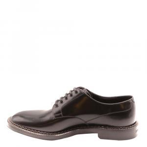 حذاء دربي دولتشي أند غابانا أربطة جلد أسود مقاس EU 43.5