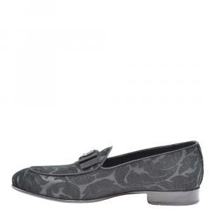 Dolce & Gabbana Black Jacquard Lucas Loafers Size EU 41.5