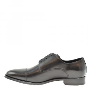 Dolce & Gabbana Black Leather Derby Shoes Size EU 41.5