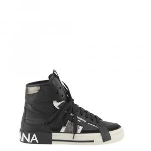 Dolce & Gabbana Black 2Zero Custom High-top Sneakers Size EU40.5