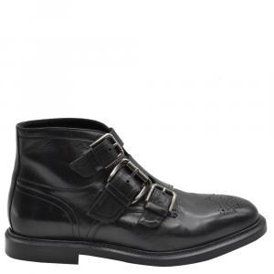 Dolce & Gabbana Black Leather Boots Size EU 40