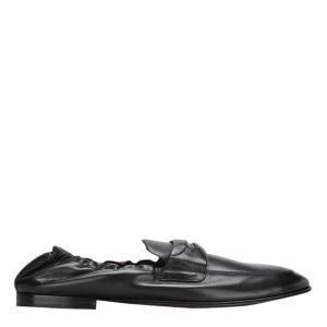 Dolce & Gabbana Black Leather Loafers Size EU 41.5