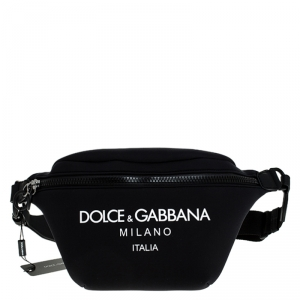 Dolce and Gabbana Black Neoprene Fabric Palermo Tecnico Crossbody Bag