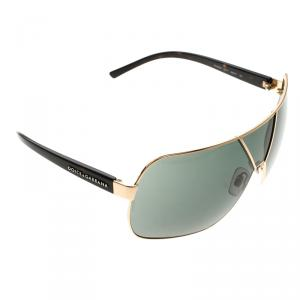Dolce and Gabbana Black/Gold DG 2006 Oversized Sunglasses
