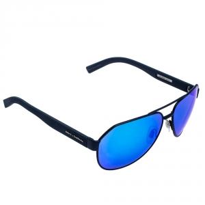 Dolce & Gabbana Dark Blue/ Blue Mirrored DG 2149 Aviator Sunglasses