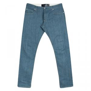 Dolce and Gabbana 14 Gold Blue Straight Fit Denim Jeans XL
