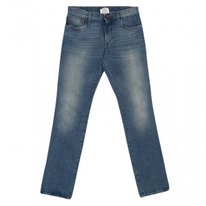 Dolce and Gabbana 16 Blue Faded Effect Denim Distressed Jeans S