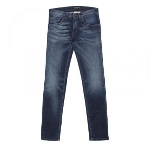Dolce and Gabbana Gold 14 Indigo Dark Wash Faded Effect Denim Jeans XS