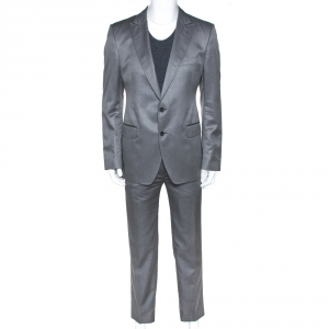 Dolce & Gabbana Grey Wool and Silk Blend Tailored Suit XL