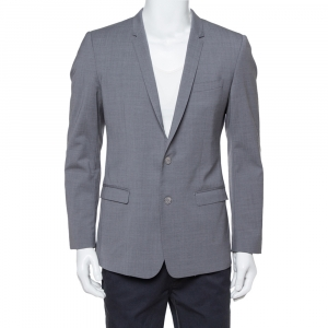 Dolce & Gabbana Gold Grey Wool Two Buttoned Jacket L