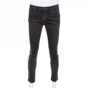 Dolce & Gabbana Capri Black Denim Stretch Jeans L
