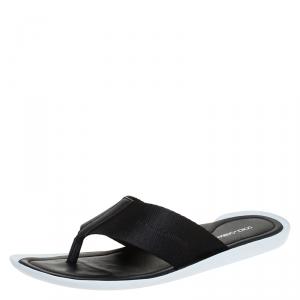 Dolce & Gabbana Nylon Fabric Thong Flats Size 44