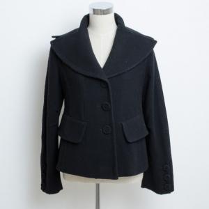 Donna Karan Collection Black Wool Jacket