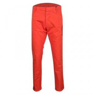 Dsquared2 Orange Overdyed Cotton Chino Trousers XXL