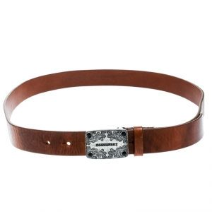Dsquared2 Brown Leather Belt Size 100 CM