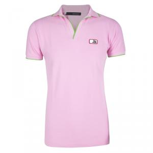 Dsquared2 Chic Steve Pink Honey Comb Knit Polo T-Shirt M