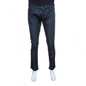 Dsquared2 Indigo Dark Wash Denim Dean Dan Straight Jeans XL