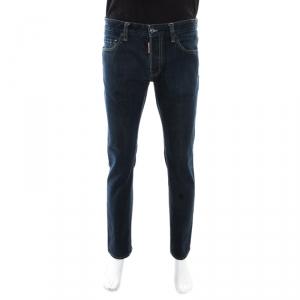 DSquared2 Indigo Dark Wash Denim Tapered Jeans M