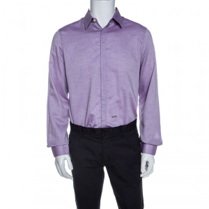 Dsquared2 Purple Chambray Cotton Button Front Shirt XL - used