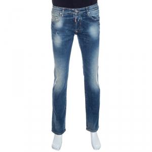Dsquared2 Blue Distressed Denim Jeans M