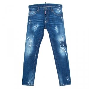 Dsquared2 Indigo Distressed Splatter Effect Denim Cool Guy Jeans S
