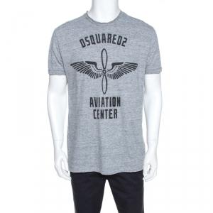 Dsquared2 Grey Logo Print Cotton Chic Dan Fit T-Shirt XL