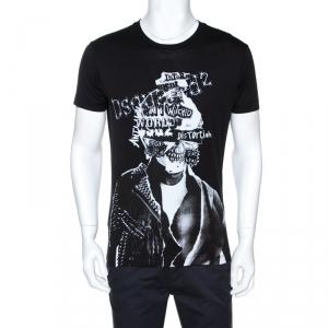 Dsquared2 Black Graphic Print Cotton Chic Dan Fit T-Shirt M
