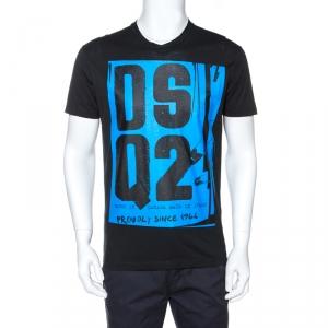Dsquared2 Black Dsq2 Print Cotton Cool Fit T-Shirt M