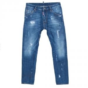 Dsquared2 Indigo Distressed Denim Classic Kenny Jeans XS
