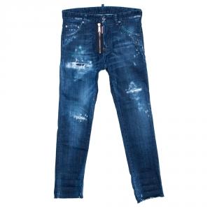 Dsquared2 Indigo Distressed Denim Cool Guy Jeans XS