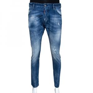 Dsquared2 Blue Distressed Denim Slim Fit Jeans L - used