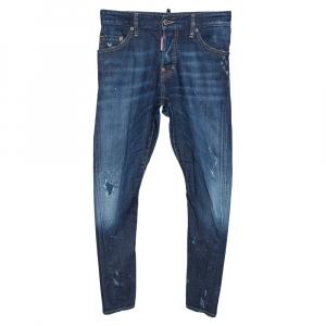 Dsquared2 Indigo Distressed Light Wash Denim Sexy Twist Jeans XS