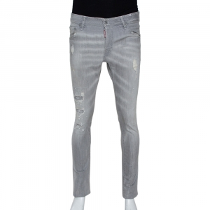 Dsquared2 Grey Distressed Denim Paint Splatter Effect Cool Guy Jeans S - used