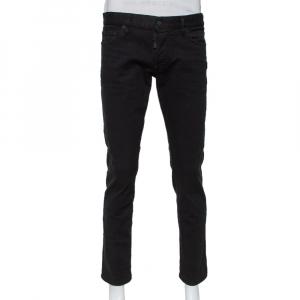 Dsquared2 Black Denim Tapered Leg Black Bull Jeans M - used
