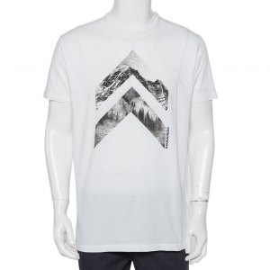 Dsquared2 White Printed Cotton Crewneck T-Shirt XL - used