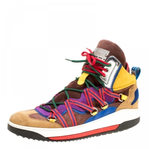 Dsquared2 Multicolor Suede High Top Sneakers Size 42