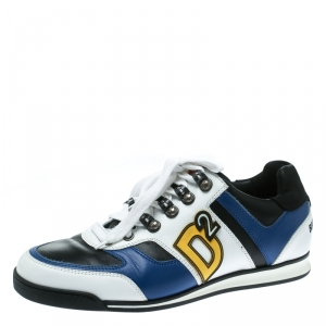 DSquared2 Multicolor Leather Winner Lace Up Sneakers Size 42