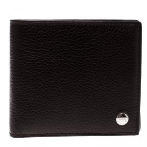 Alfred Dunhill dark Brown Leather Bifold Wallet