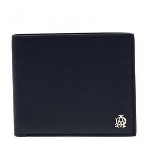 Dunhill Dark Blue Leather Bourdon Bifold Wallet