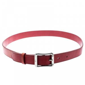 Dunhill Red Leather Belt 107CM
