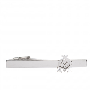 Dunhill Logo Platinum Finish Tie Bar Clip