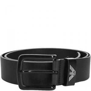 Emporio Armani Black Leather Belt 95CM